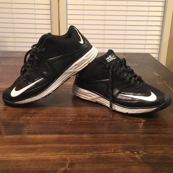 Men's Nike black BSBL turf shoes